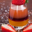 Layered fruit drink — Stock Photo