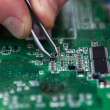 Microchip fixing — Stock Photo #41649759