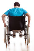 Driving a wheelchair — Stock Photo