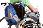 Handicapped schoolboy — Stock Photo