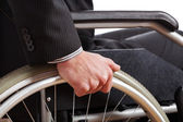 Independent diabled man — Stock Photo