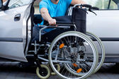 Handicapped driver — Stock Photo