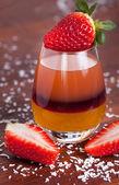 Layered fruit drink  — Stock Photo