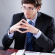 Stock Photo: Lawyer listening to his client
