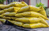 Bags with garden bark — Stock Photo