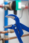 Blue wrench — Stock Photo