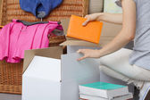 Colorful books packing — Stock Photo