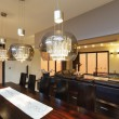 Stock Photo: Dining room lighting