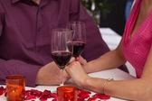 Romantic classes of wine — Stock Photo