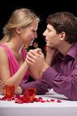 Romantic hands holding — Stock Photo