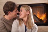 Couple smilling and looking at each other — Stock Photo