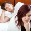 Sad marriage in the morning — Stock Photo
