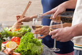 Wine at home — Stock Photo