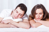 Couple sleeping in bed — Stock Photo