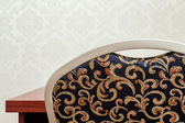 Patterned chair back — Stock Photo