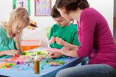 Creative games in kindergarden — Stock Photo