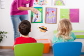 Studying in kindergarden — Foto Stock