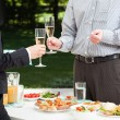 Garden party in the company — Stock Photo