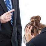 Boss threatening his employee — Stock Photo