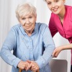 Nurse with elderly woman — Stock Photo #43067291