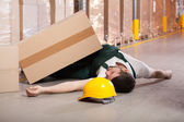 Accident in warehouse — Stock fotografie