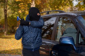 Car robbery — Stock Photo