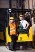 Workers at warehouse — Stock Photo