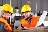 Female workers in factory — Stock Photo