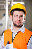 Worker in factory — Stock Photo