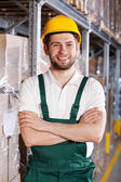 Worker in warehouse — Stock Photo
