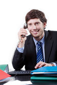Goodlooking employee at office — Stock Photo