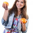 Young girl with fruits — Stock Photo #43807633