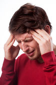 Man suffering from migraine — Stock Photo