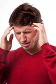 Man suffering from headache — Stock Photo