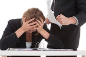 Boss bullying his employee — Stock Photo