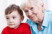 Grandma with grandson — Stock Photo