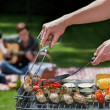 Musical bbq — Stock Photo