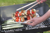 Vegetable grilling — Stock Photo