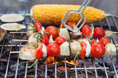Grilling food — Stock Photo