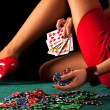 Sexy gambling woman — Stock Photo #44517759