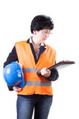 Professional building site manager — Stock Photo
