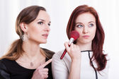 Ladies preparing make up — Foto Stock