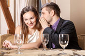 Romantic couple on a date — Stock Photo