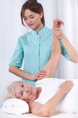 Physical therapy for arm — Stock Photo