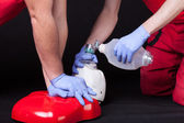 First aid instruction — Stock Photo