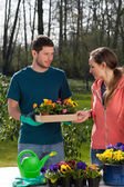 Couple of horticulturist — Foto Stock