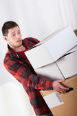 Tired man moving — Stock Photo