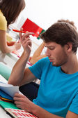 Student can't solve task — Stock Photo