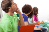 Yawning student during lecture — Stock Photo