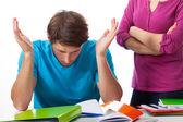 Student disagree with teacher — Stock Photo